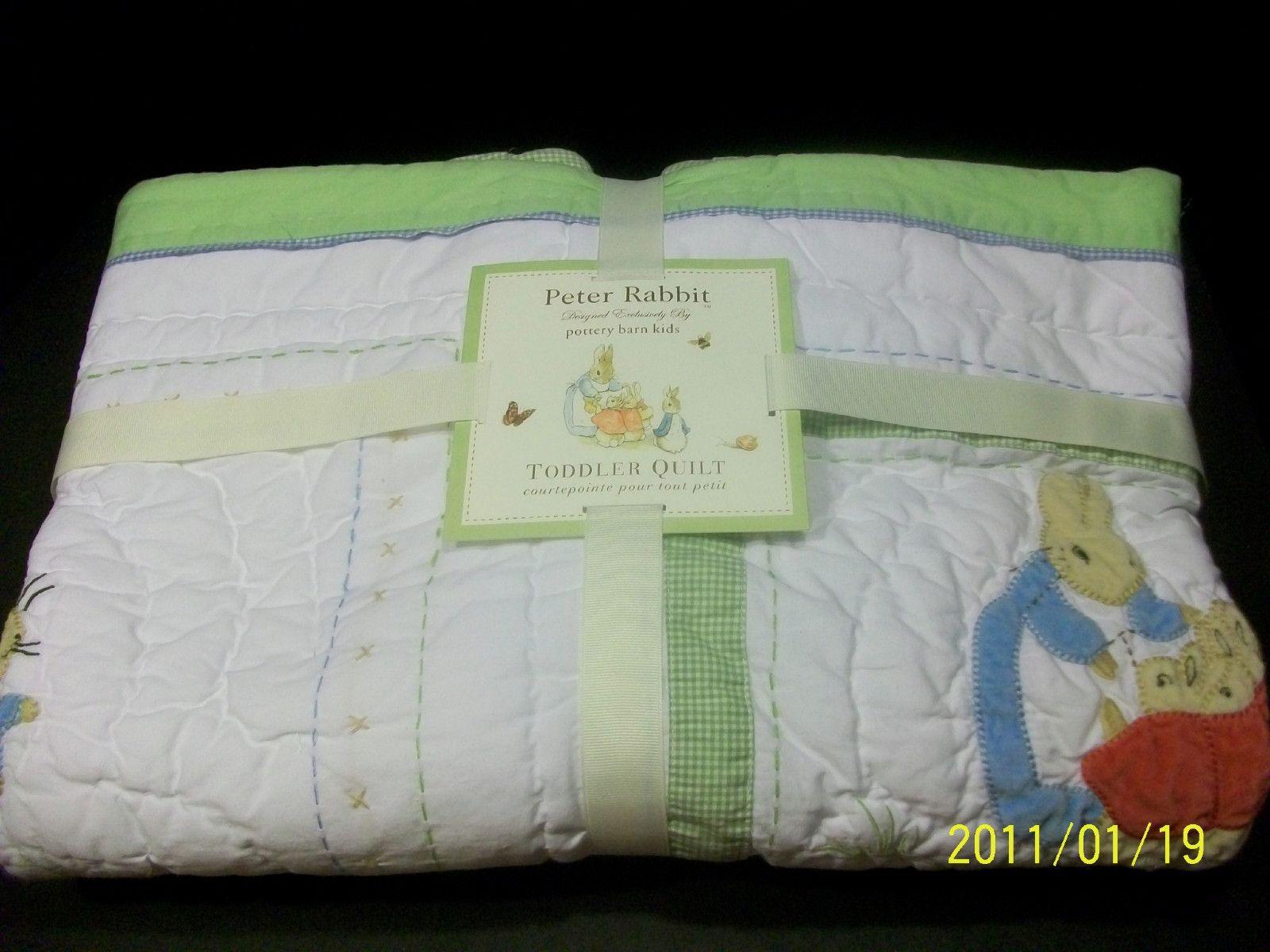 Pottery Barn Kid Peter Rabbit Crib Quilt Beatrix Potter