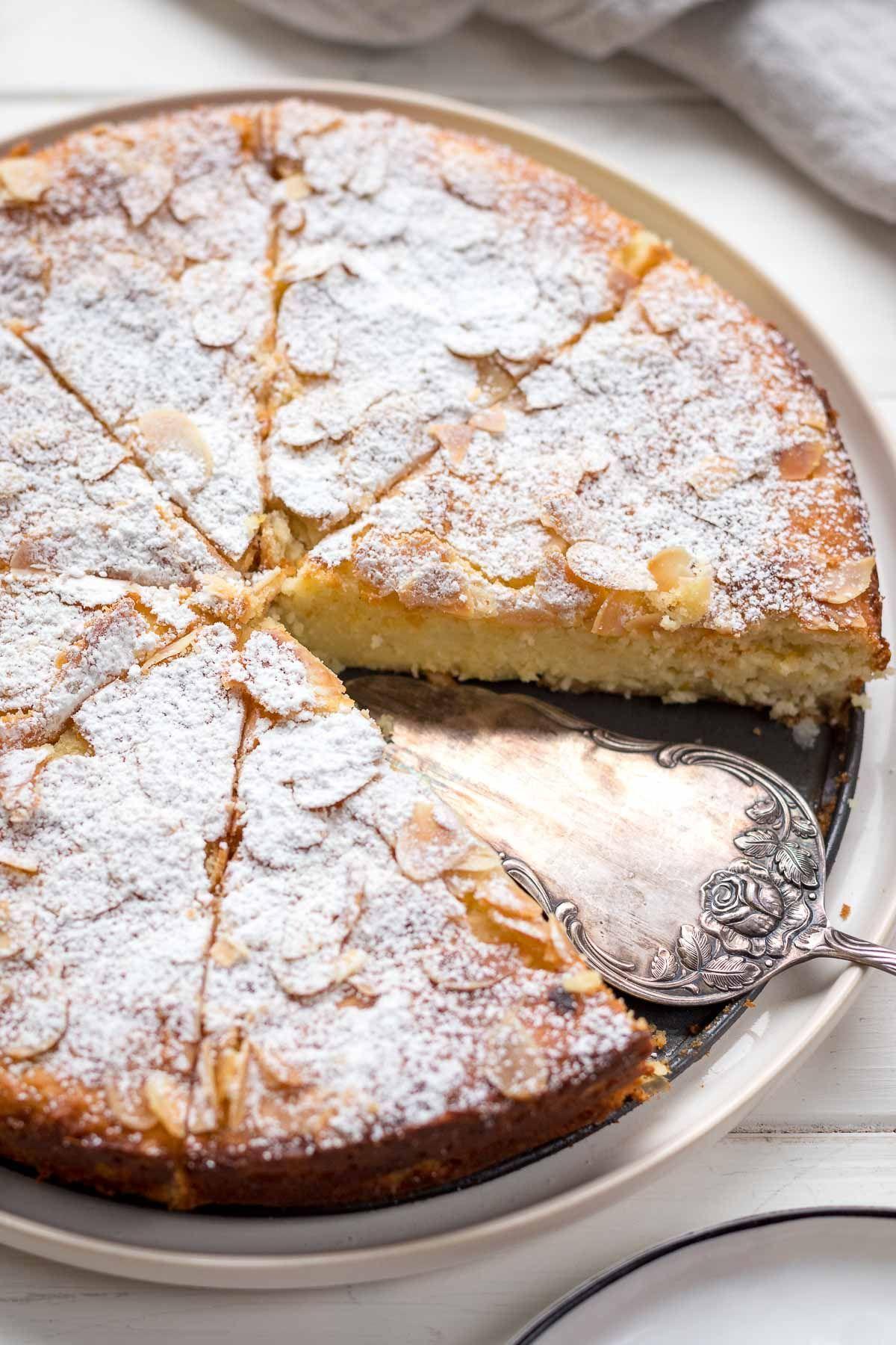 Mandelkuchen Mit Ricotta Und Zitrone Ohne Mehl Rezept In 2020 Mandelkuchen Rezepte Kuchen