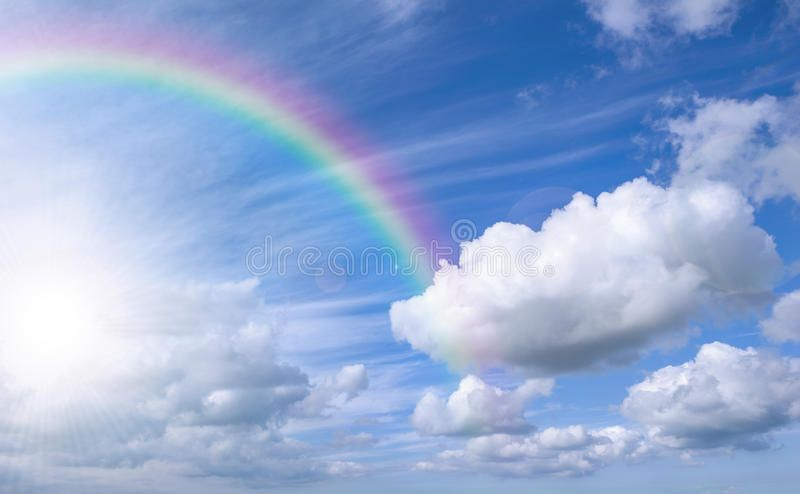 Sky With Rainbow And Bright Sky Blue Sky Background With Rainbow And Bright Sky Ad Bright Rainbow Sky Background Rainbow Sky Rainbow Wallpaper Sky