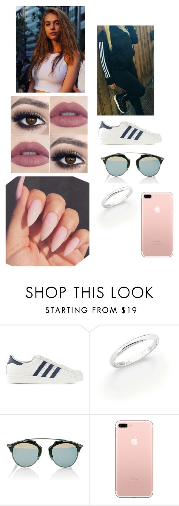 """""""Deep In The Meadow"""" by paukar ❤ liked on Polyvore featuring adidas Originals, De Beers and Christian Dior"""