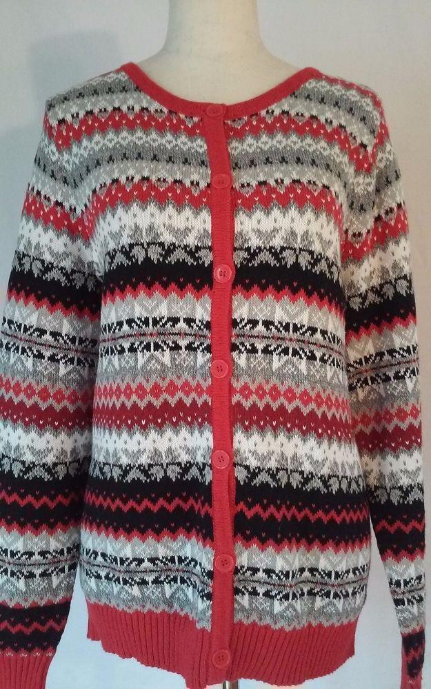 Crystal-Kobe Full Button Cardigan Multi-color Sweater Women's LARGE EUC #CrystalKobe #Cardigan
