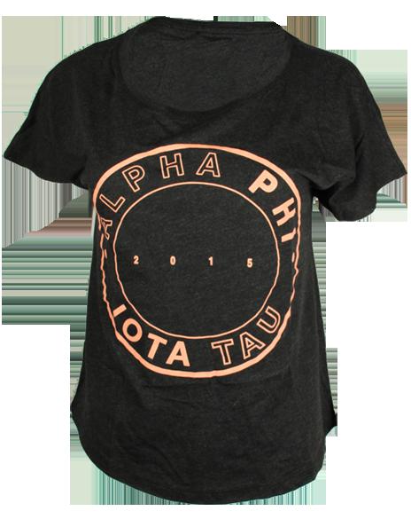 Alpha Phi Circle Tee by Adam Block Design | Custom Greek Apparel & Sorority Clothes | www.adamblockdesign.com