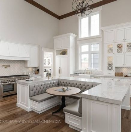 Kitchen Island With Seating Open Concept Banquettes 31  Ideas