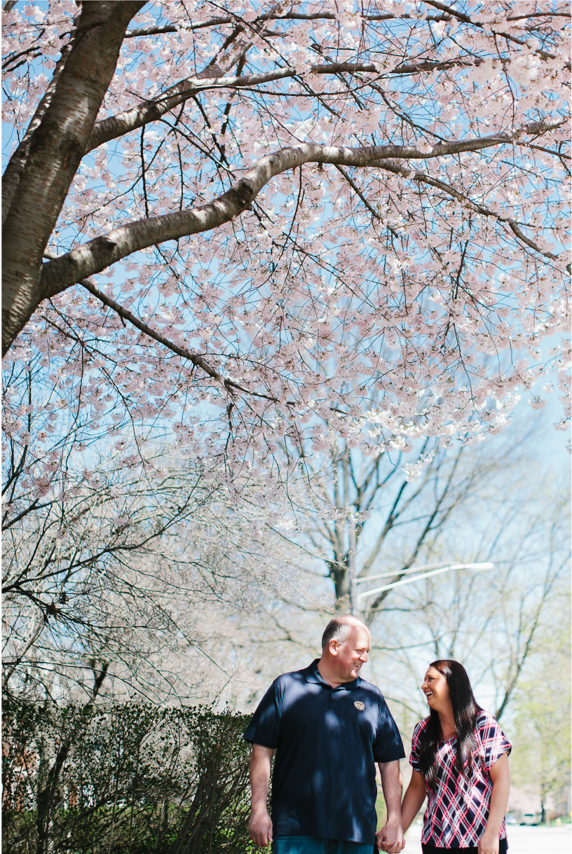 engagement | blossoms | downtown www.kayceshoffner.com