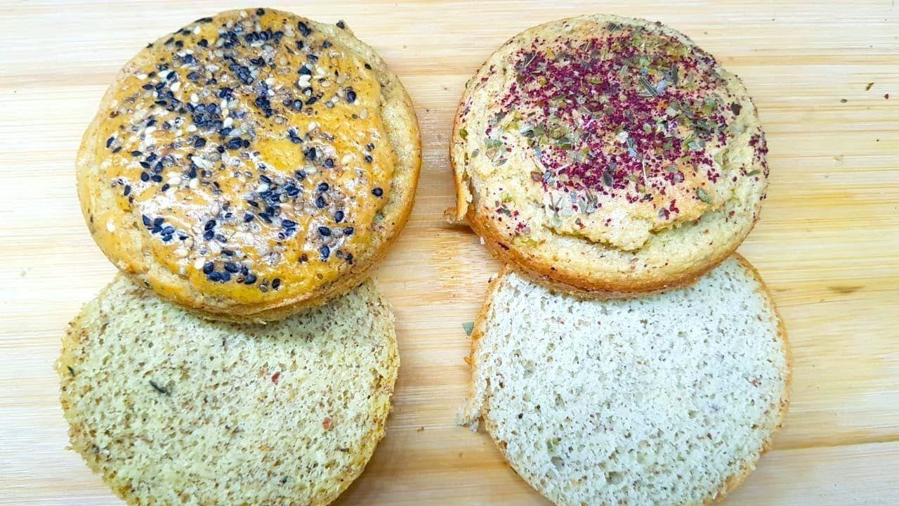 أروع و أسرع كايزرللبرجر كيتو لوكارب سكري لا سكر طحين زبدة ب3 مكونات بس Food Breakfast Bread