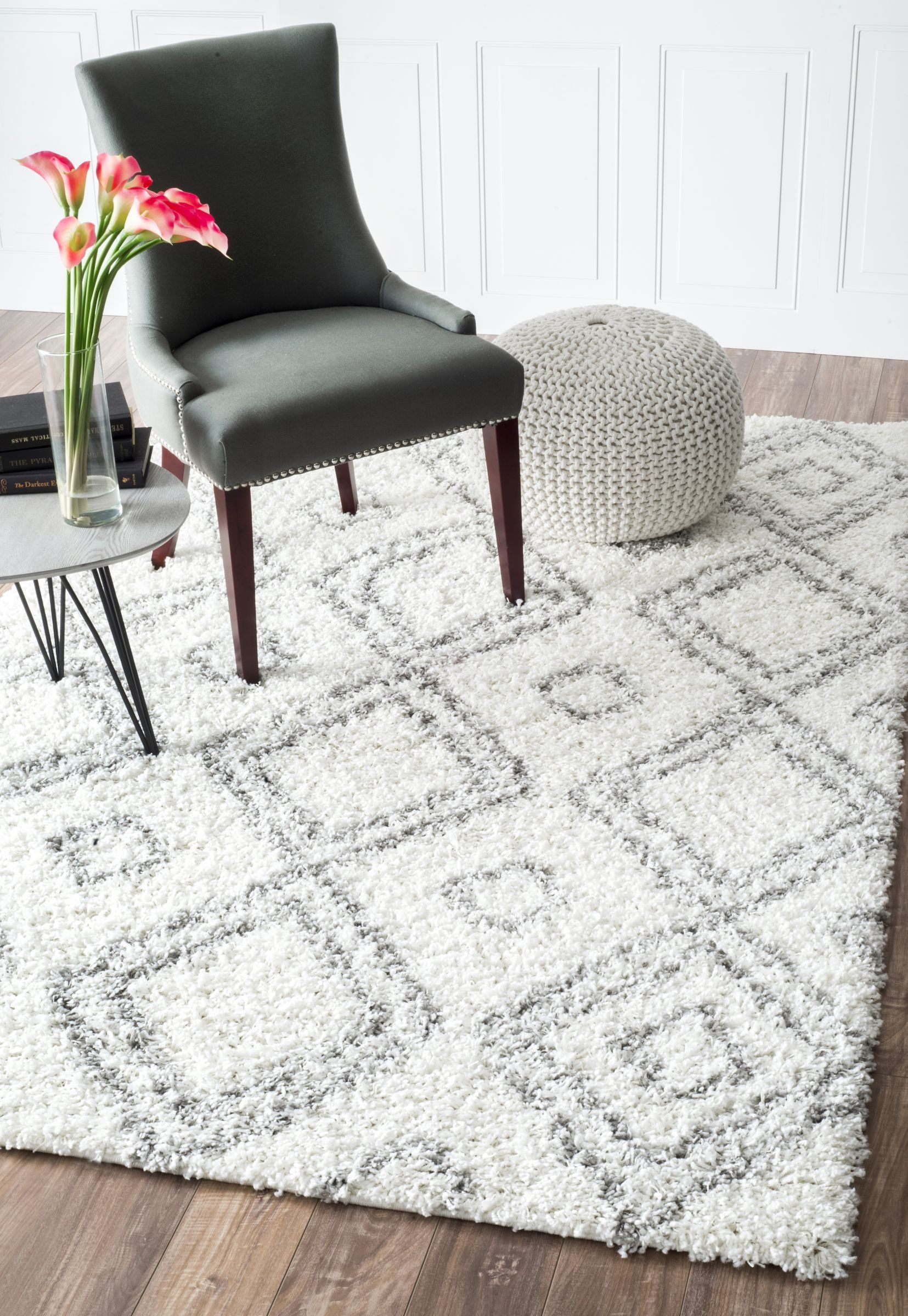 Cozy Soft and Plush Moroccan White Shag Area Rugs, 9 Feet 2 Inches ...
