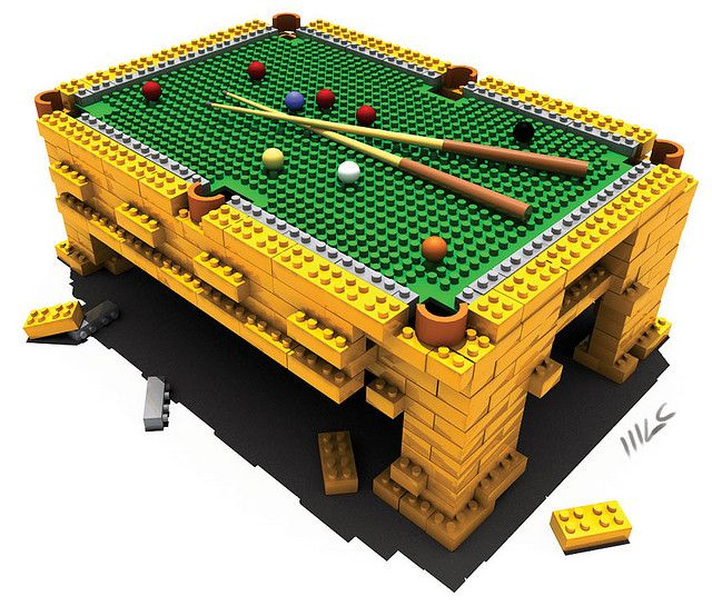 Cool 3d Lego Pool Table #lego #pooltable #kids
