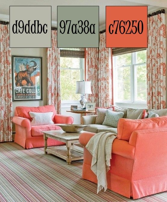 Coral Cottage Palette For The Sims 3 Salmon And Sage Sims 3 Color Schemes Pinterest Sims