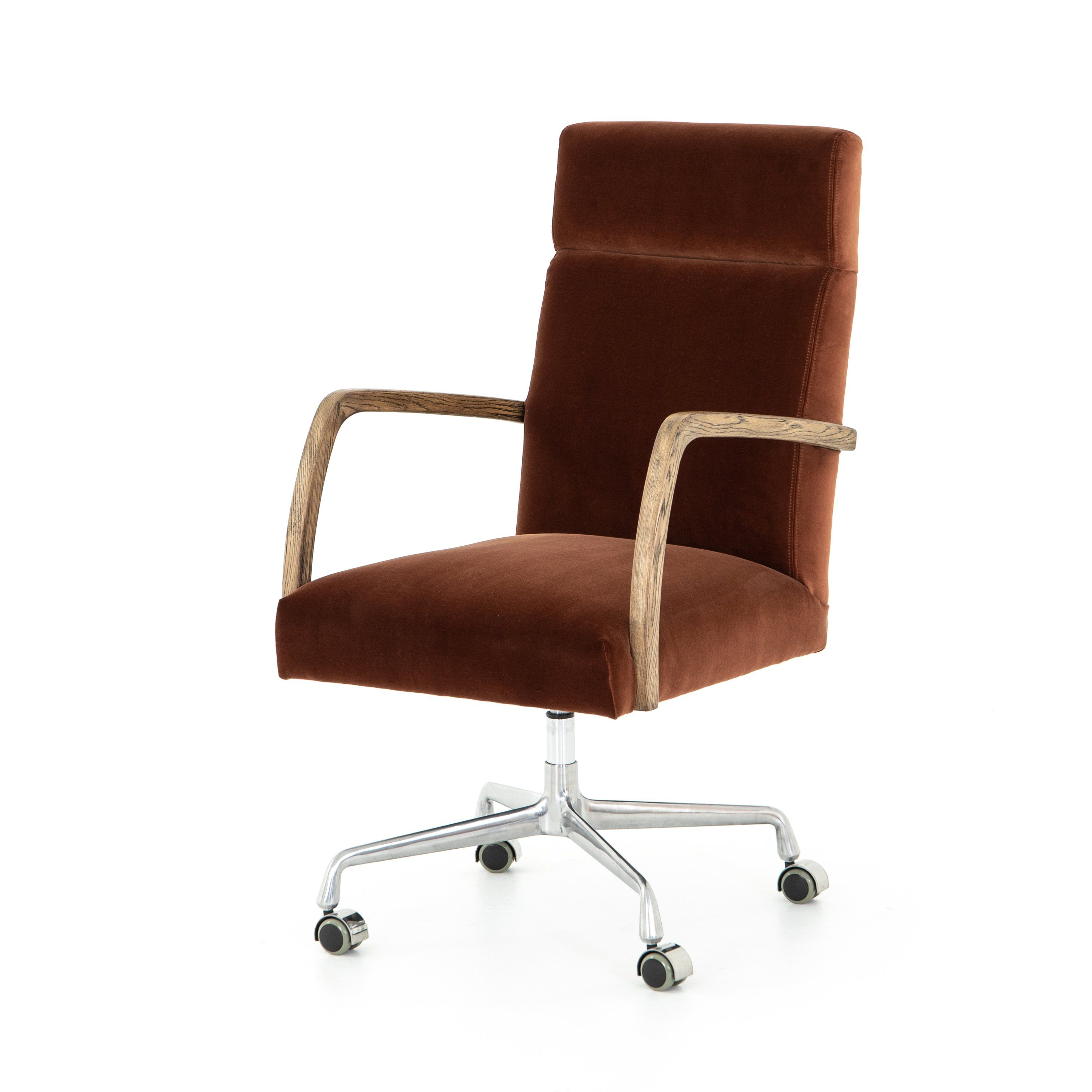 Stefano Desk Chair Burnt Auburn Desk Chair Chair Large Furniture