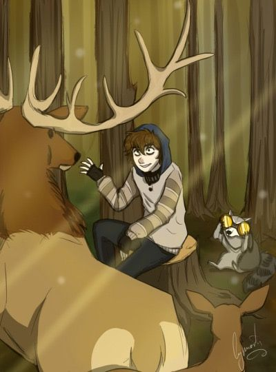 ticci toby omfg the animal behind him xp toby ha made friends