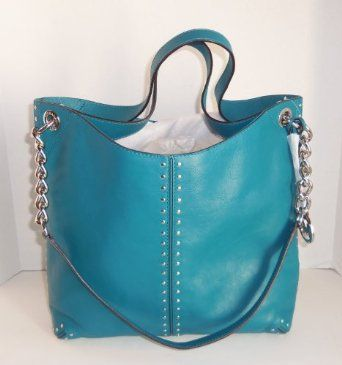 Michael Kors purse in turquoise. $398 is a bit steep; but I do love it!