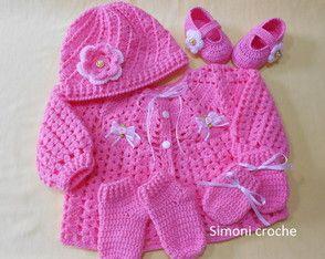 Conjunto de crochê para bebê
