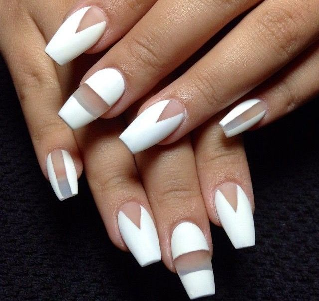 white matte with clear
