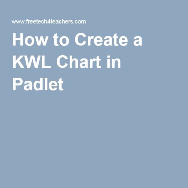 How to Create a KWL Chart in Padlet Summer Pinterest Student - kwl chart