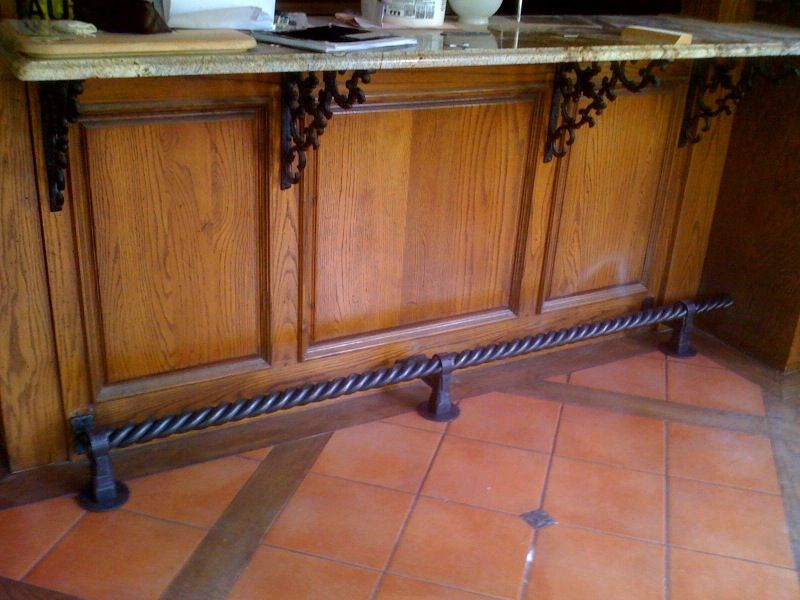 Lovely Foot Rails for Home Bar