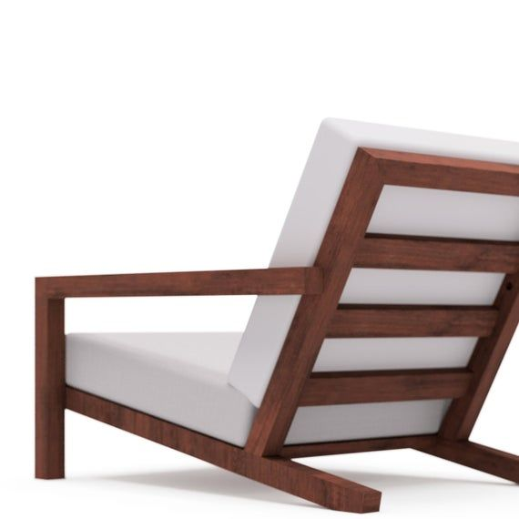 Diy Modern Outdoor Garden Lounge Chair Stool Building Plan Template Construction Drawing Blueprint For Home Worker To Make Sofa For Yard Garden Lounge Chairs Outdoor Chairs Design Chair Design Modern