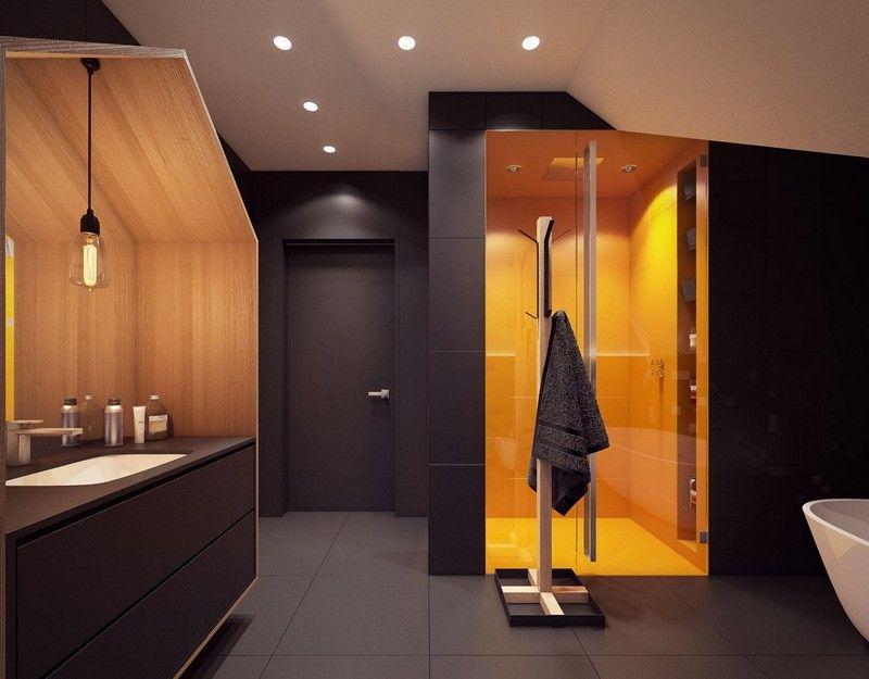 salle de bain noir et blanc ou en tons contrast s en 40 id es salles de bains pinterest. Black Bedroom Furniture Sets. Home Design Ideas