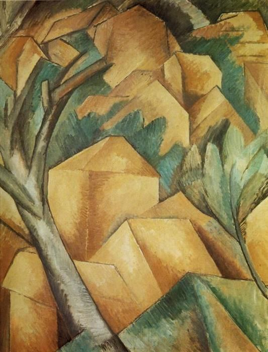 Case all 39 estaque braque georges 1908 olio su tela for Piccola casa su piani di fondazione