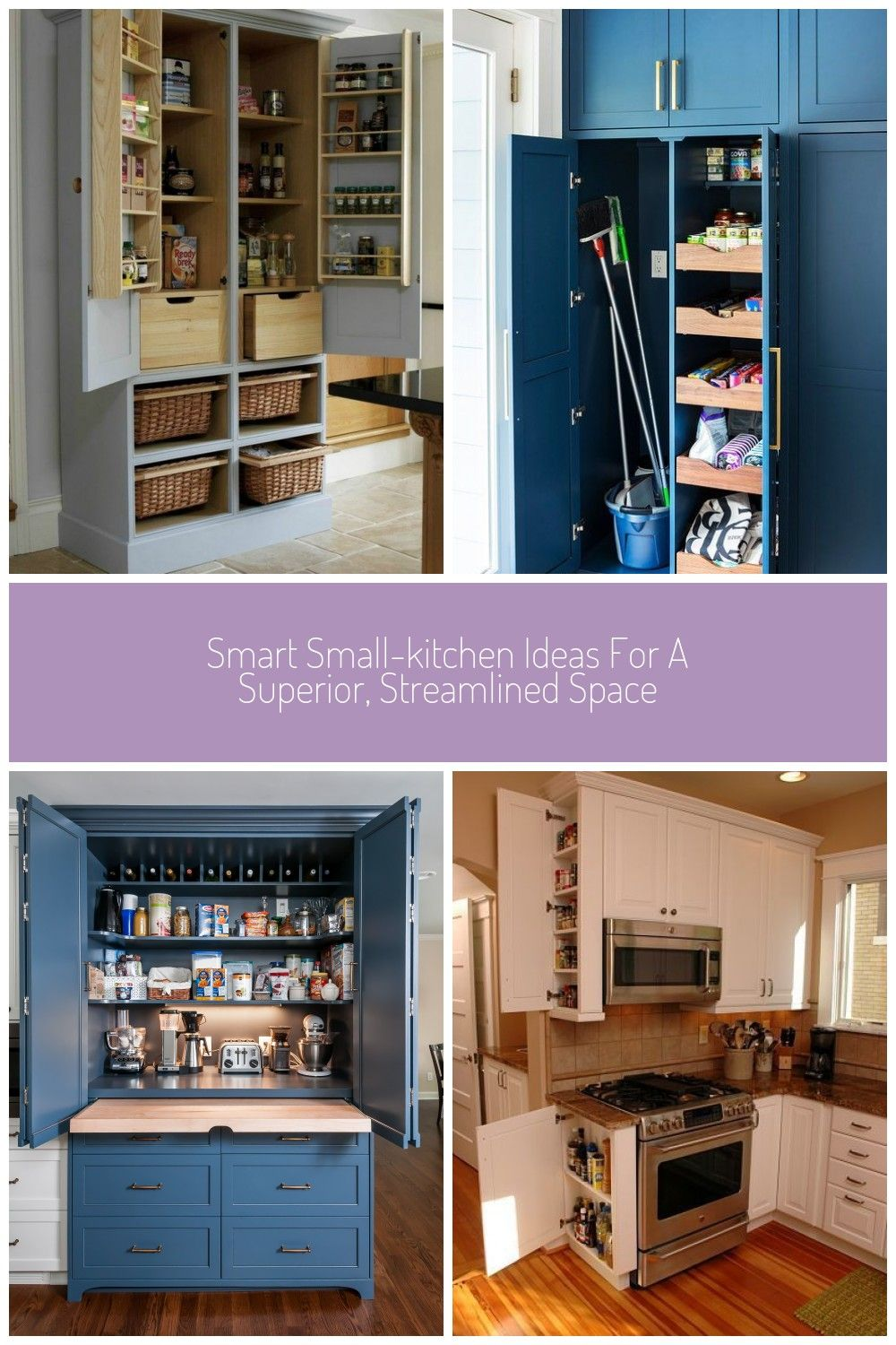 When Kitchen Space Is Limited A Thoughtful And Efficient Design Is Integral To Making The Most Of Every Squa In 2020 Small Kitchen Built In Pantry Home Coffee Stations