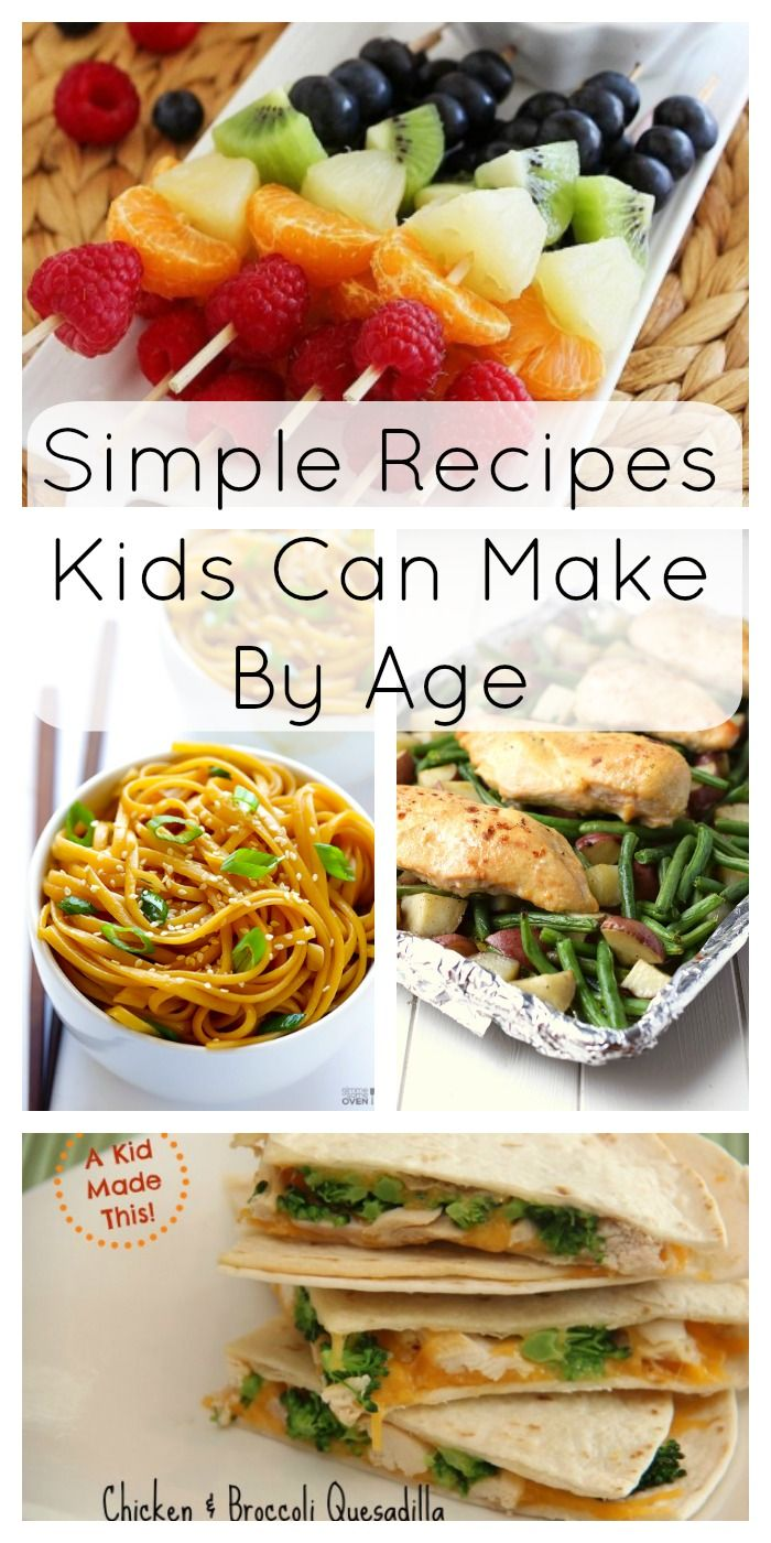 These recipes are perfect to start your kids out in the kitchen – broken down by age!