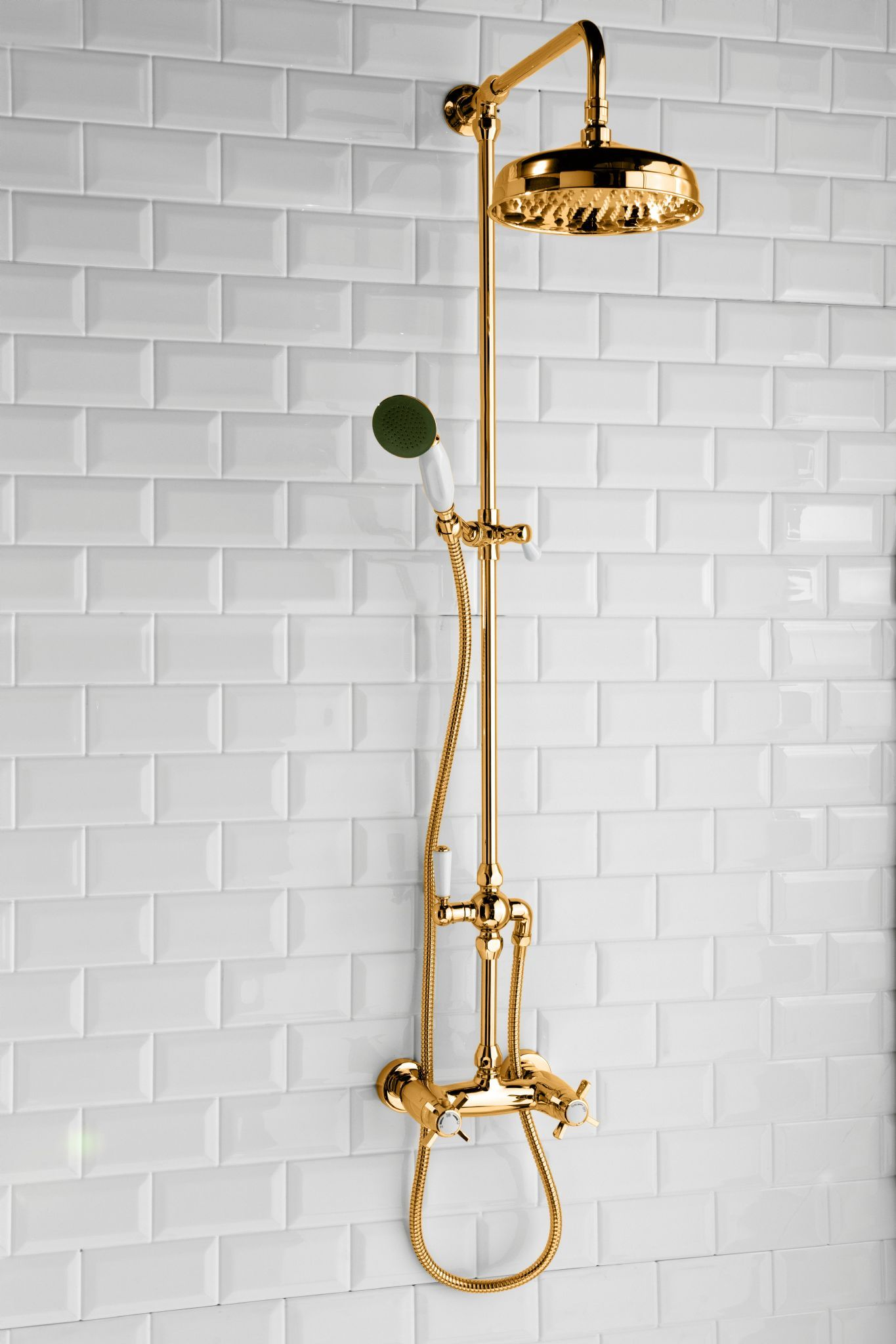 DoratO Prima Thermostatic Shower Set with handset in 24ct Gold ...