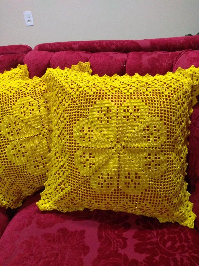 Ideia Por Monica Inze Em Almohadones Almofada De Croche Quadrada