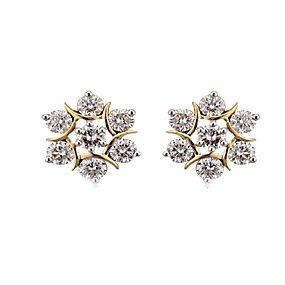 Genuine Diamond Bow Post Earrings in 14k White Gold Fine Jewelry Gift 0.16 Ct