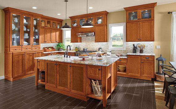 Cherry Kitchen In Praline Kitchen Kraftmaid Kitchen