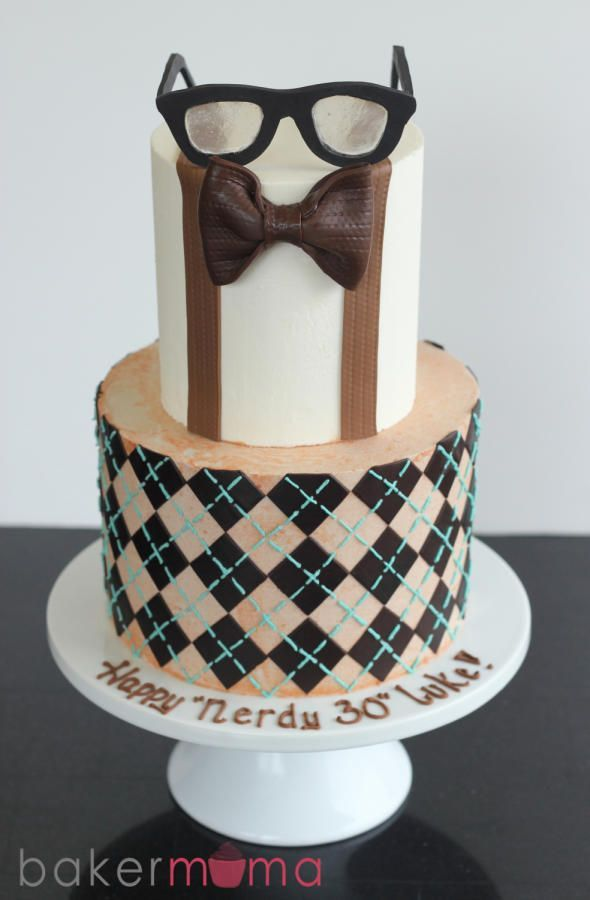 Nerdy 30 Birthday Cake So Fun For A 30th Birthday Party