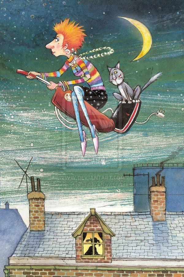 Ms Moon By Johnpatience On Deviantart Cat Art Whimsical Illustration Whimsical Art