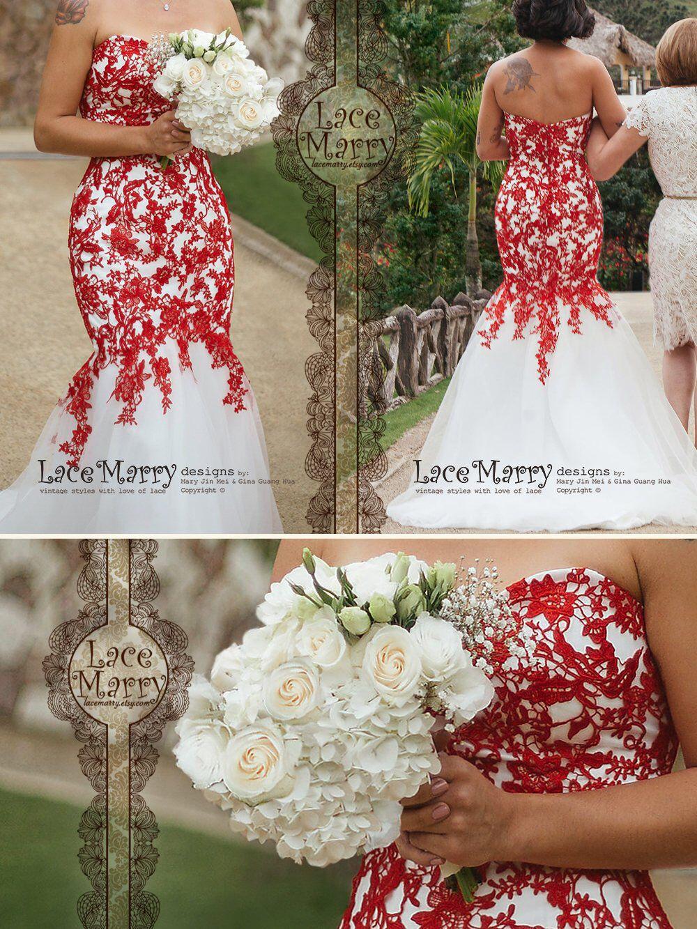 12++ Red and black mermaid wedding dresses info
