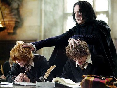 Snape Hitting Ron and Harry