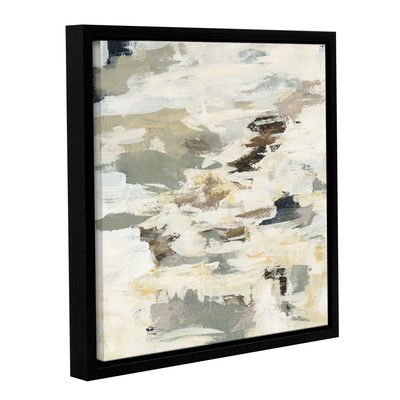 """Varick Gallery Steps on Stones I Framed Painting Print on Wrapped Canvas Size: 14"""" H x 14"""" W x 2"""" D"""