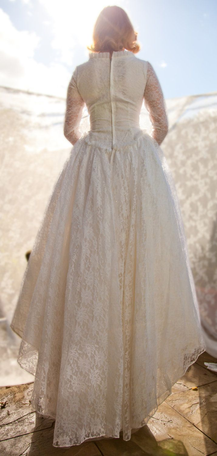 Find This Pin And More On Pictures To Match A Rare Song By Jim Reeves Early Vintage Lace Wedding Dress