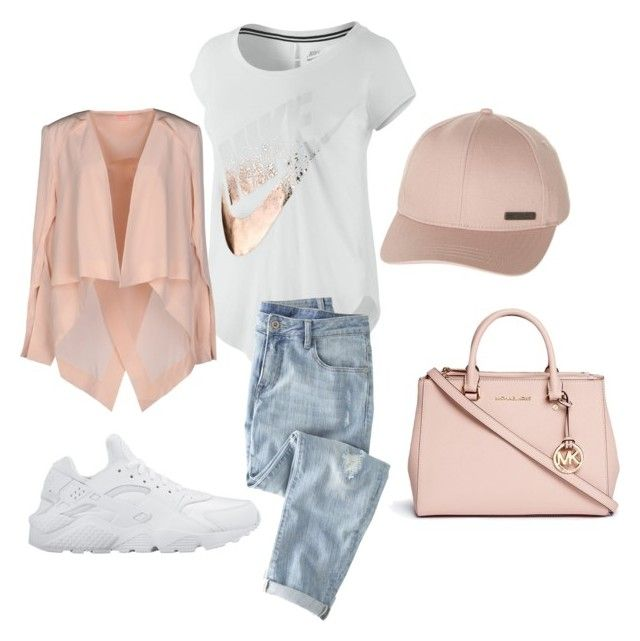 """Lazy but Classy"" by roslin-breasia on Polyvore featuring NIKE, Wrap, Billabong, Michael Kors and sass & bide"