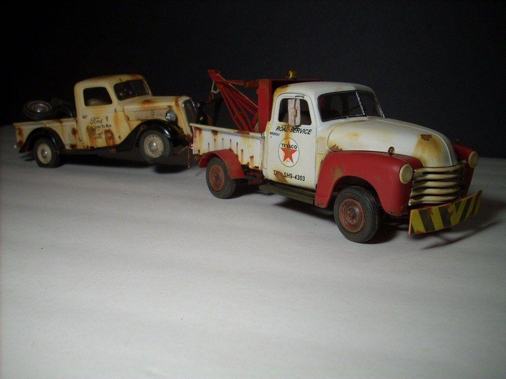 Junkyard Models | 1950 Chevy Tow Truck | Junkyard Models & Dioramas ...