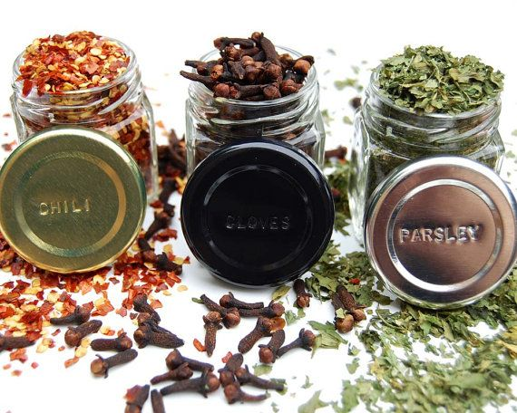 Rustic Magnetic Spice Rack: Includes 24 Organic by GneissSpice