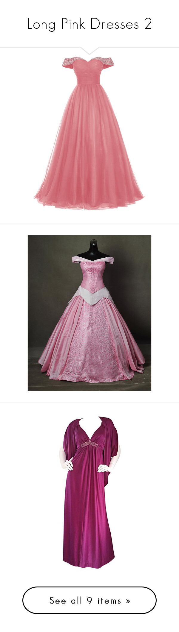 Long Pink Dresses 2\