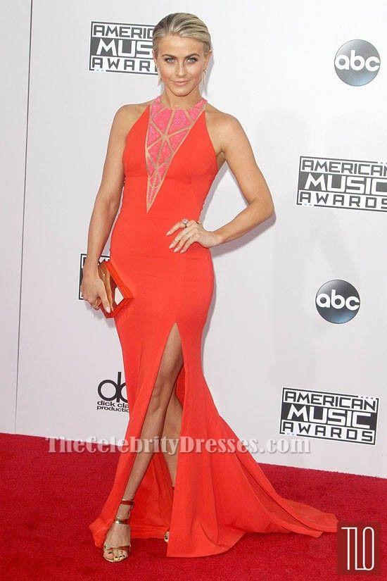 Julianne Hough American Music Award 2014 Red Carpet Evening Formal Dress TCD6099