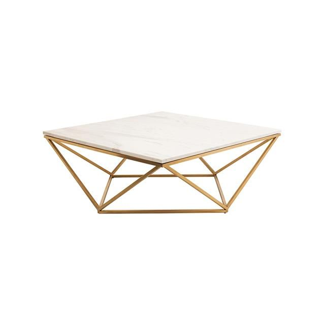 Nuevo Jasmine Marble Coffee Table   Features Square White Marble Top And  Stainless Steel Base. Jasmine Coffee Table Has A Brilliant Design That Will  Add ... Amazing Ideas