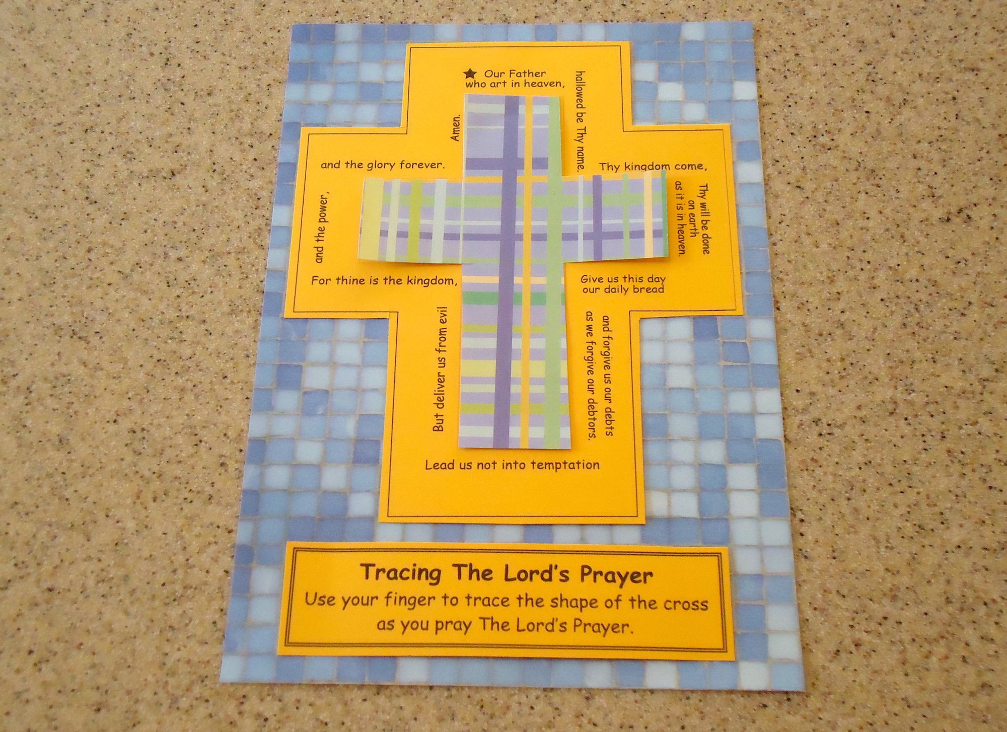 New Post Activity For Lent Lord S Prayer Tracing Cross