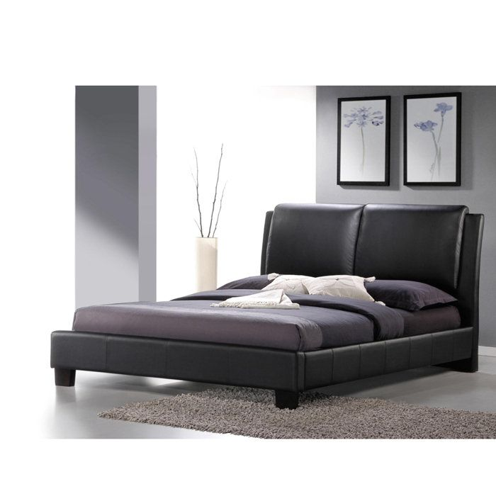 Sabrina Modern Bed with Overstuffed Headboard at Brookstone—Buy Now ...