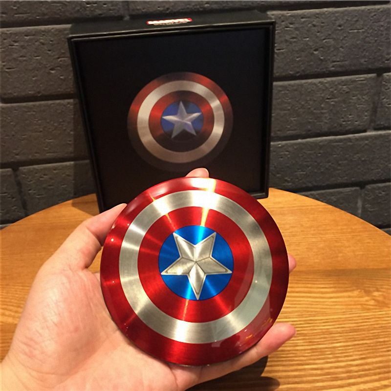 985313b85e0ce3 New Year gift Avengers Captain America Shield 6800MAH power bank double usb powerbank  portable External battery pack charger //Price: $US $17.01 & FREE ...