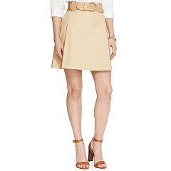 Pleated Cotton A-line Skirt - Lauren Short Skirts - RalphLauren.com
