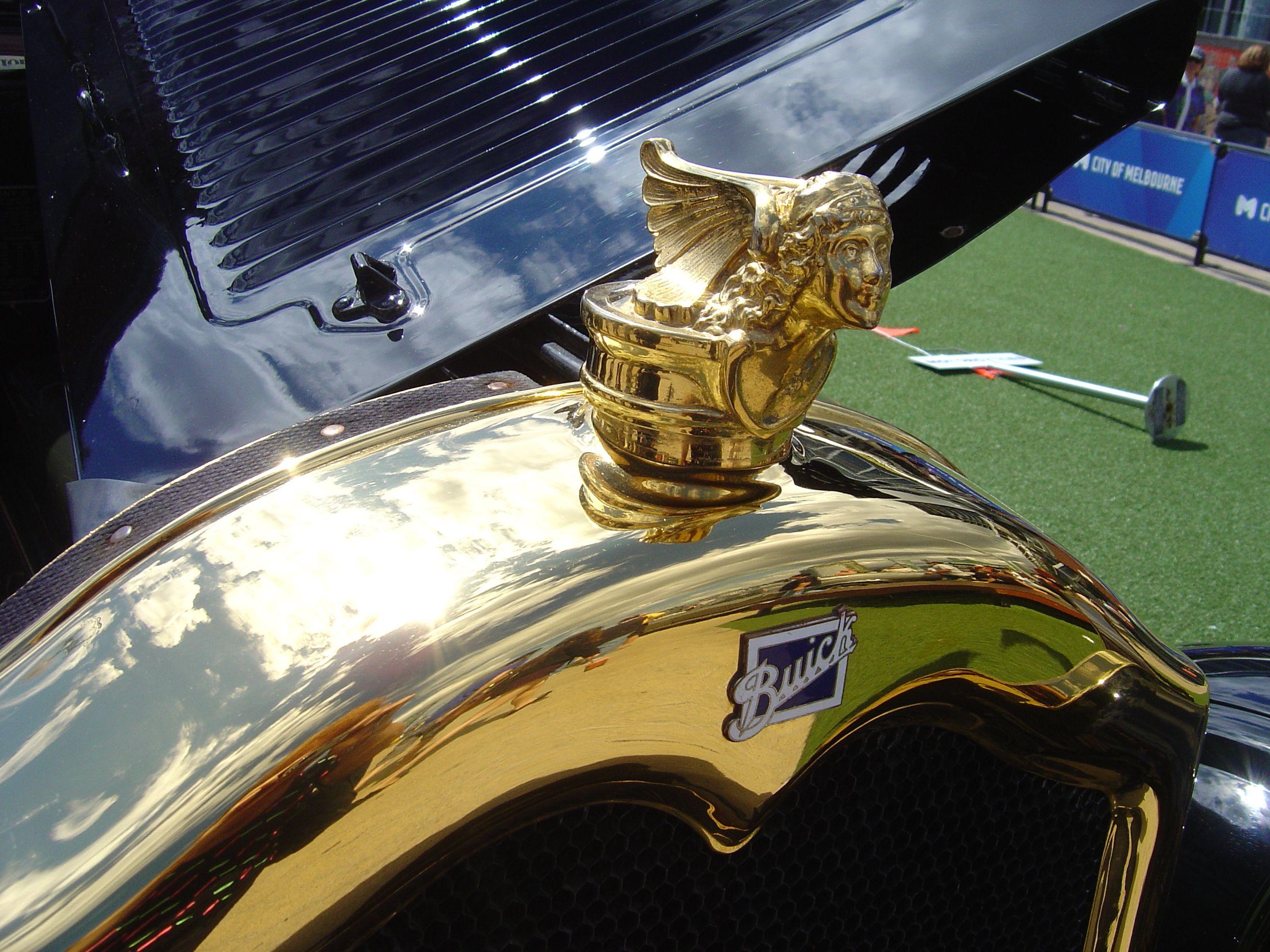 1926 Buick hearse. Radiator ornament. Hood ornaments