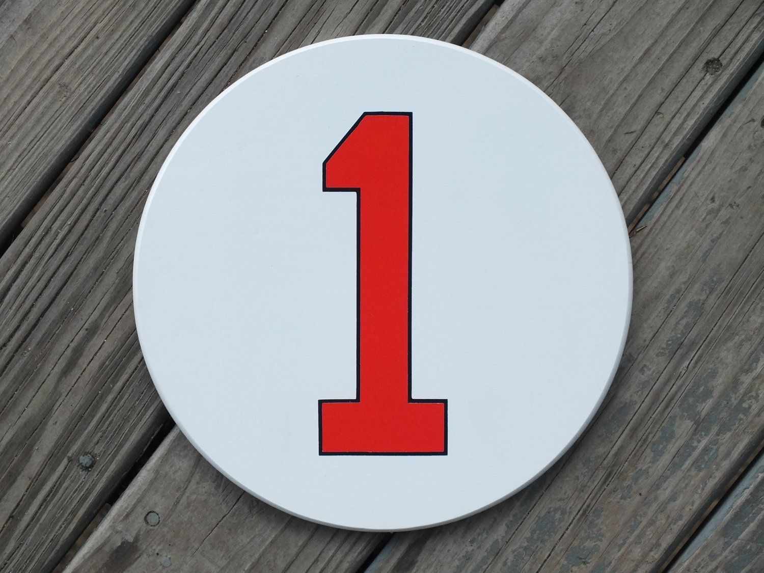 "Painted Retired Number, All Numbers Available 11.5"". 35"