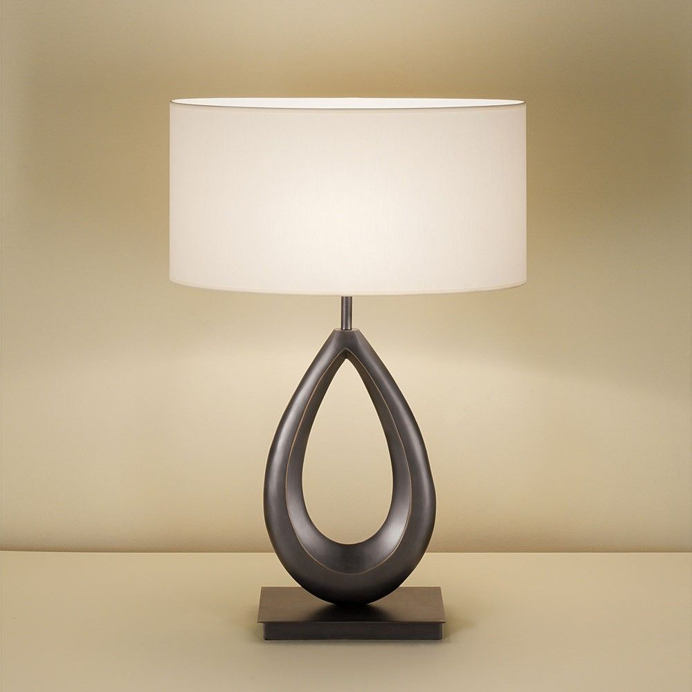 Nickel sculpture collar table lamp from chelsom made from solid nickel sculpture collar table lamp from chelsom made from solid cast brass with a steel geotapseo Choice Image