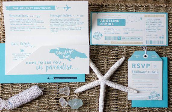 ssve the dates invitatiosn boarding pass wedding invitation