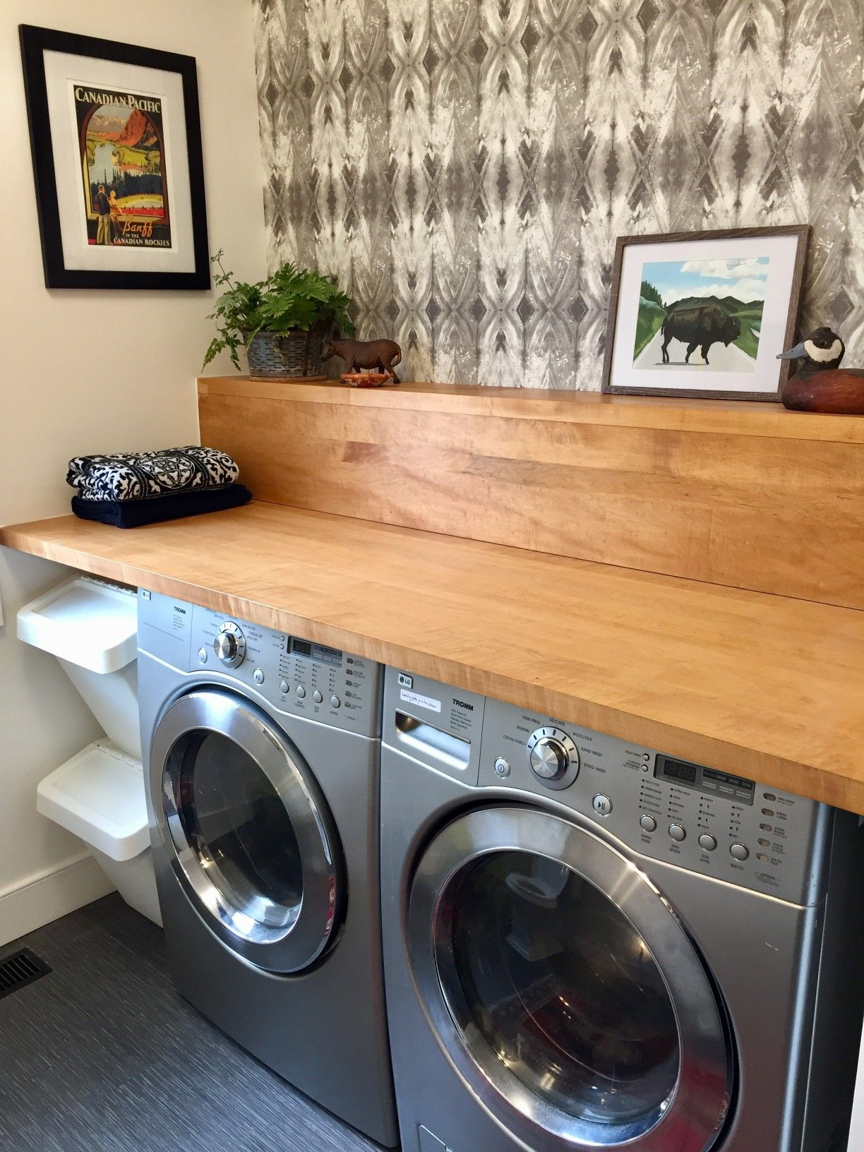 Laundry Room Reno And New Wood Countertop Airstreamlined