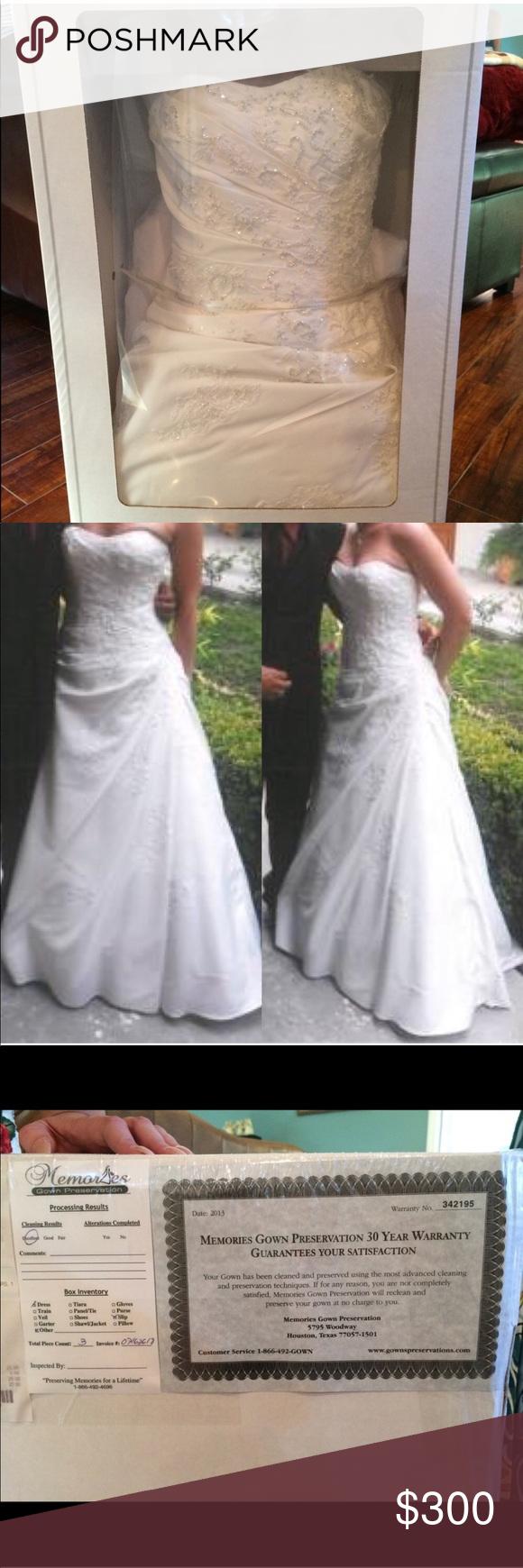 Davids Bridal Beaded Wedding Gown Size 4 | My Posh Picks | Pinterest ...